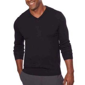 Calvin Klein 100% Merino Wool Grey V-neck Sweater